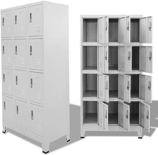 vidaXL Armario Taquilla 12 Compartimentos 90x45x180 cm Casillero Organizador