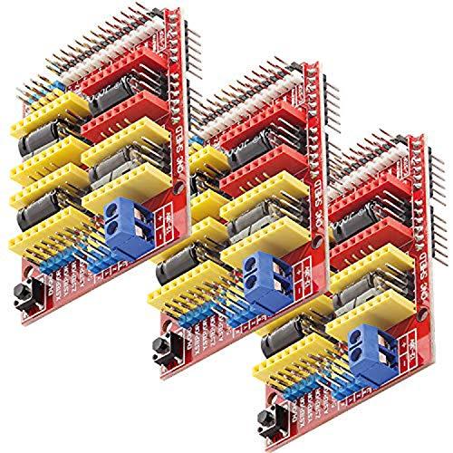 AZDelivery 3 x CNC Shield V3 development board für A4988 Schrittmotor Treiber Stepper für 3D Drucker und Arduino UNO R3 eBook inklusive