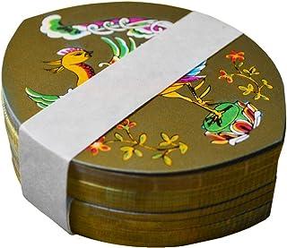 散華(さんげ) 1号 平安絵巻 5絵柄 表・裏とも金銀の2色 100枚入り