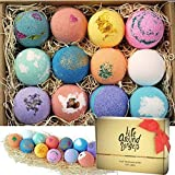 12 uniquely handcrafted bath bombs. Functional and relaxing. Great Mothers day gifts. Truly made in California, USA freshly with premium USA natural ingredients - fizzes with colors, will not stain your tub! Therapeutic and Moisturizing bath bombs, f...