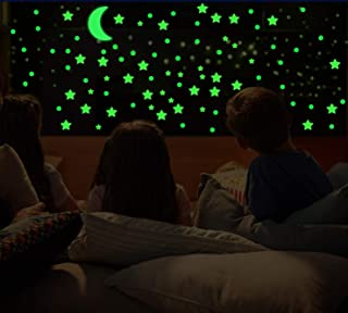 3D Domed Glow in The Dark Stars and Moon,649 Bright and Realistic Wall Stickers for Starry Sky,Shining Wall Decoration for...