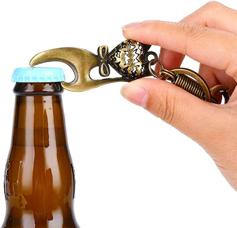 Vintage Cat Bottle Opener Keychain Unique Gift Ideas For Women Men