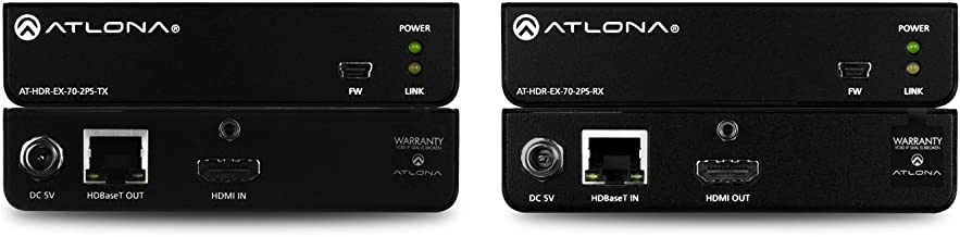 Atlona Technologies AT-HDR-EX-70-2PS 4K HDR Capable HDMI Over HDBaseT TX/RX Kit