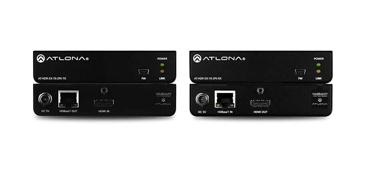 Atlona 4K HDR HDMI Over HDBaseT TX/RX Kit AT-HDR-EX-70-2PS