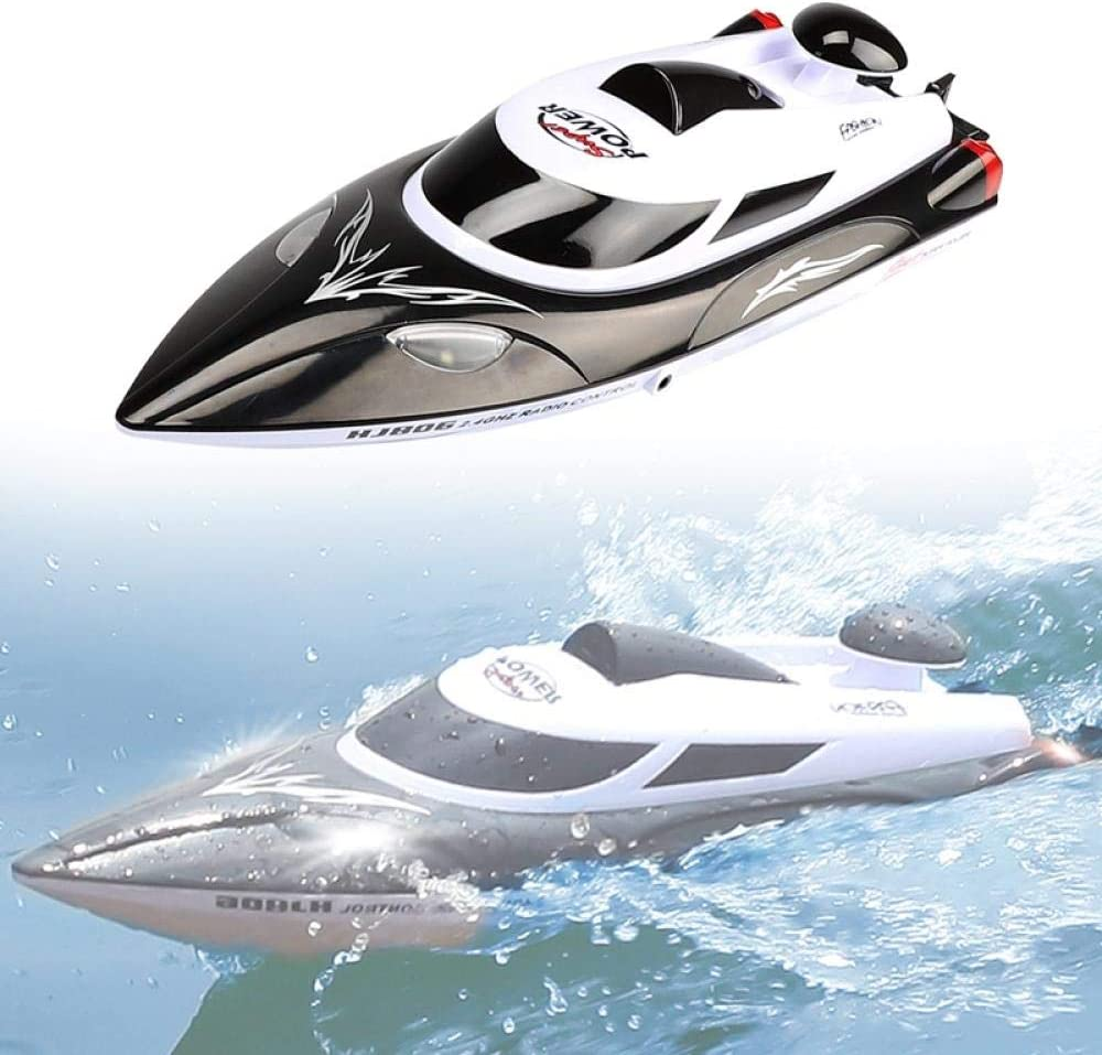 YCHZX RC Boat High Speed Boat HJ806 2.4GHz 4 Channel 35km//h Racing Flip Waterproof Remote 200m Control Distance Toys-Black