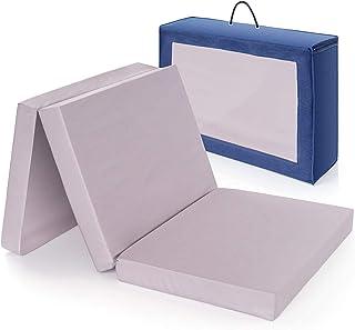 Base colchón cuna de viaje plegable 120x60 cm/Altura 6 cm - funda de algodón lavable, transpirable, sin sustancias nocivas