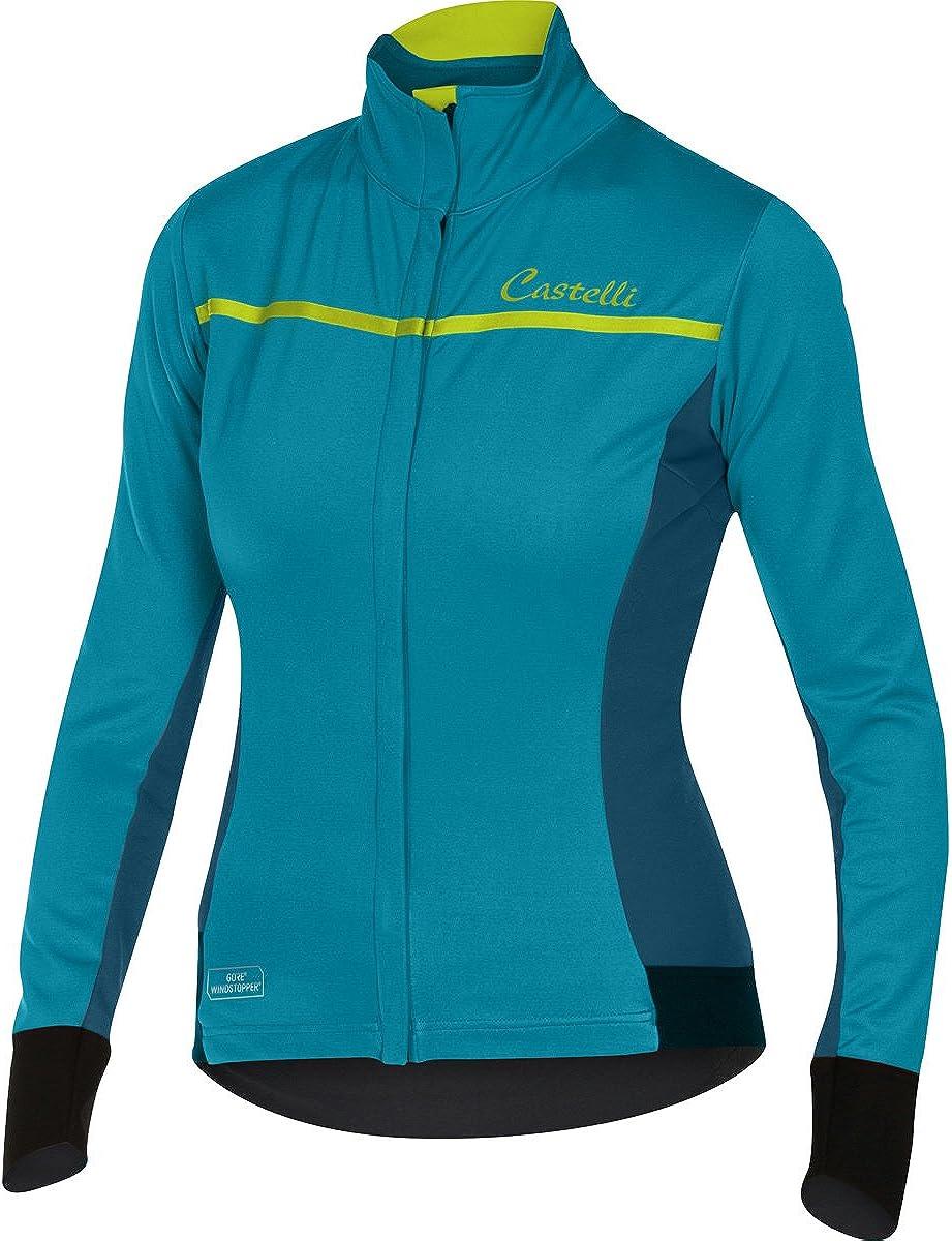 Castelli Women/'s Donna Trasparente Long Sleeve Blue Cycling Jersey Size M New