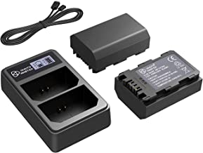 PHOTO MASTER 2X NP-FZ100 Replacement Battery (2280mAh) and LCD USB Dual Charger for Sony A7 III, Sony A7RIII, Sony A7R3, S...