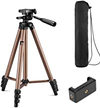 Syvo WT 3130 Aluminum Tripod (50-Inch), Universal Lightweight Tripod with Mobile Phone Holder Mount & Carry Bag for All Sm...