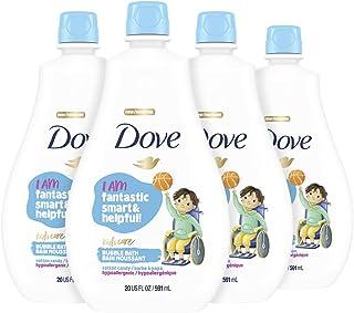 Dove Kids Care Bubble Bath For Kids Cotton Candy Hypoallergenic formula 20 oz 4 Count