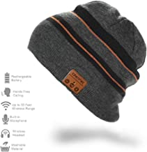 CFZC Wireless Bluetooth Beanie Hat Wireless Unisex Knit Winter Warm Music Hat with Headphones Built-in Stereo Speaker Hands-Free for Outdoor Sports Gifts