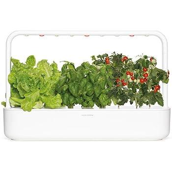 Click & Grow 9 Smart Garden 9 - Fioriera da interno, 62 x 18,4 x 39,6 cm, colore: Bianco