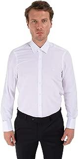 Slim Fit Uzun Kollu Manşetli Gömlek Beyaz
