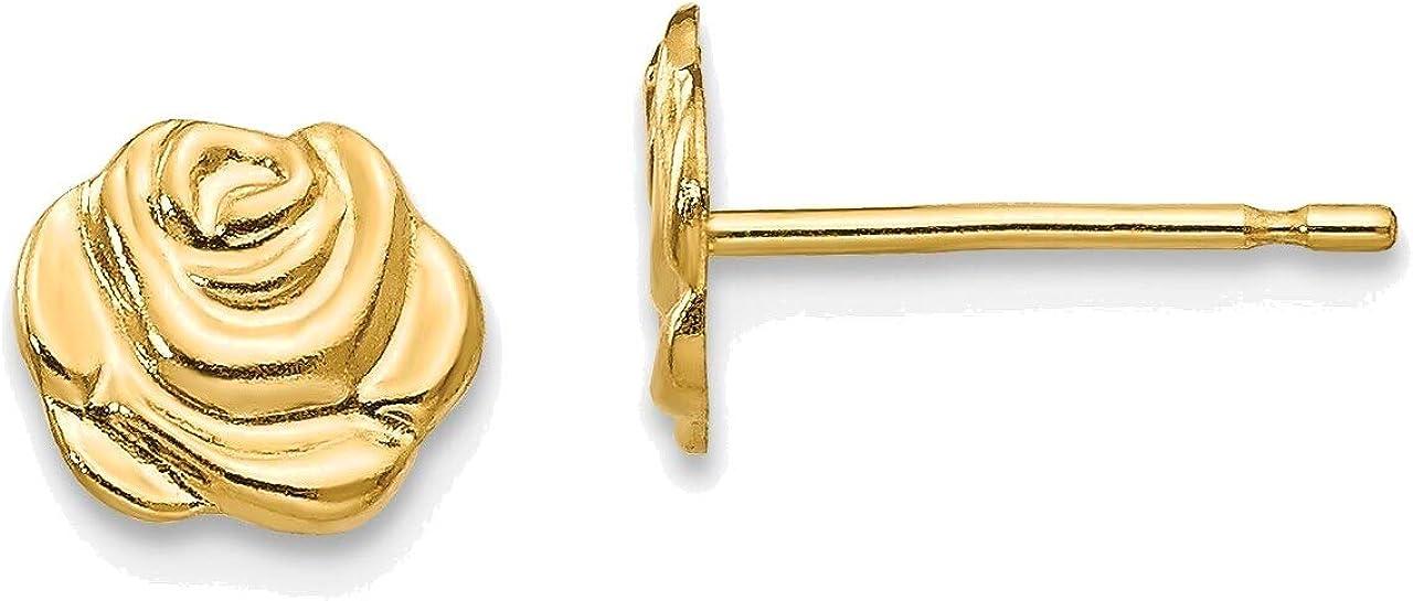 Madi K Flower Post Earrings in 14K Yellow Gold