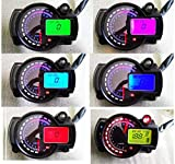 SAMDO Motorcycle Speedometer 299 Kmh Mph 7 Color 14000RPM Tachometer ATV Quad Frenzy Universal Digital Speedometer
