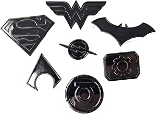 Super Heros Logo pin Set | Superman, Wonder Woman, Batman, Aquaman, The Flash, Cyborg and Green Lantern | Lightweight, Durable & Exclusive Gift Item