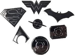 Justice League Super Heros Logo pin Set   Superman, Wonder Woman, Batman, Aquaman, The Flash, Cyborg and Green Lantern   Lightweight, Durable & Exclusive Gift Item