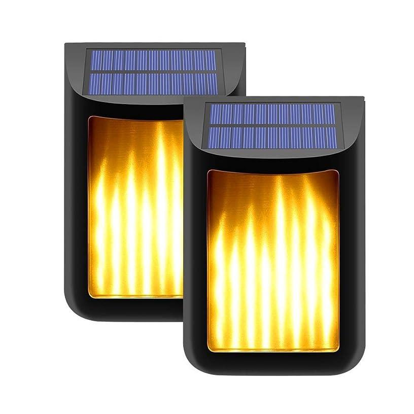 メッシュ箱支配するXiAnShiYu ソーラーライト 明暗センサー 松明風 小型 IPX5防水 配線いらず 揺れる炎 ムードライト 40led 自動点灯消灯 壁掛け 車道/歩道/庭/ガーデン/屋外などに対応 2個