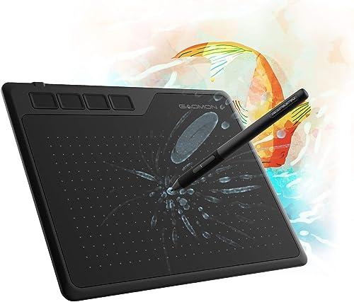 GAOMON S620 Tablet gráfico de 6,5 x 10 cm com caneta passiva 8192 4 teclas expressas para desenho digital e OSU e ens...