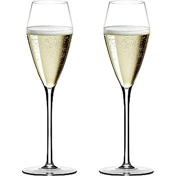 シャンパングラス フルート ペアセット 260ml ハンドメイド クリスマスギフト クリスタルワイングラス シャンパーニュ プレゼント おしゃれ クリアさ 薄さなど高級感溢れたギフト 新年 結婚祝い 誕生日 記念日 オリジナル化粧箱 Y03-01