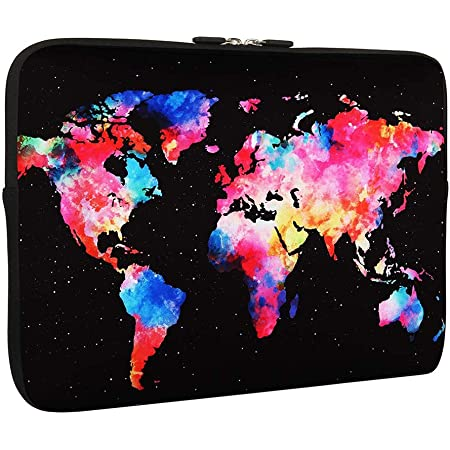 Space Rocket Orbiting The Earth Planet Pattern 15 Inch to 15.6 Inch Laptop Sleeve Carrying Case Neoprene Sleeve for Acer//asus//dell//Lenovo//MacBook Pro//hp//Samsung//Sony//Toshiba