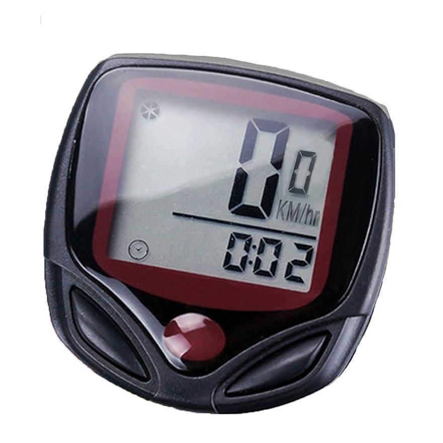 服を洗うフェロー諸島理容師Zafina 自転車サイクリングコンピュータ 14機能 LCD走行距離計速度計 速度 走行時間計測 (ブラック)