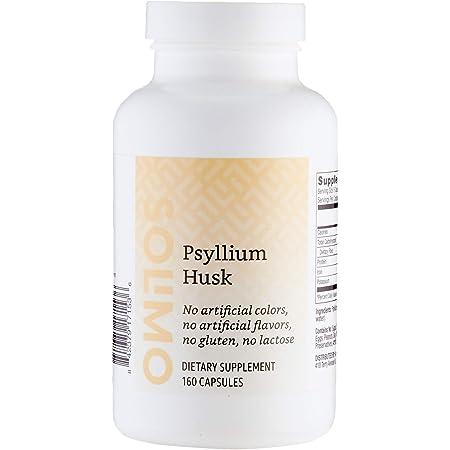 Amazon Brand - Solimo Psyllium Husk, 160 Capsules, 1 Month Supply
