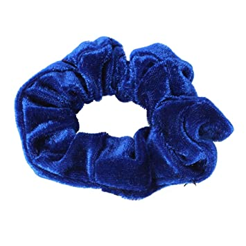 Damen Velour Samt Haargummi Zopfgummi Haarband Zopfband Pferdesschwanz Scrunchie
