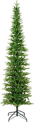 Vickerman Compton Pole Pine Christmas Tree, 7.5', Green
