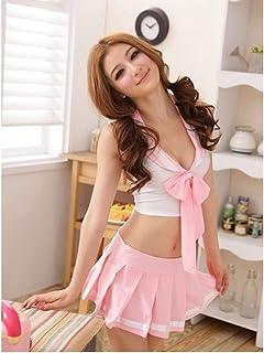 JQNPP Negligee Sexy Pink School Girl Costume Sexy School Girl/Schoolgirl Uniform, Cosplay