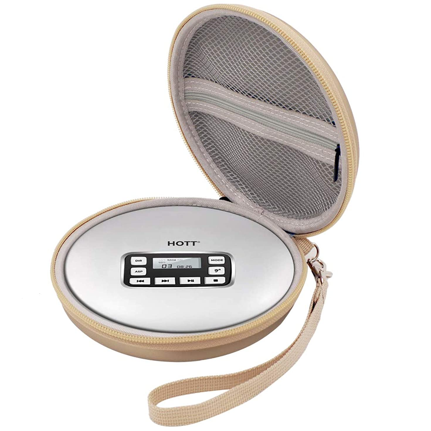 Wellgain Case Compatible for HOTT Rechargeable Portable CD Player, CD711 / CD611 / Personal Compact Disc Player - Gold