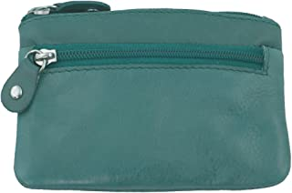 Ladies Butter Soft Genuine Leather Coin Purse (Turquoise)