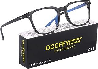 Occffy Occhiali Luce Blu con Anti UV Eyestrain Occhiali Anti Luce Blu per PC, Tablet, Gaming e TV Uomo Donna Oc092 (Nero)
