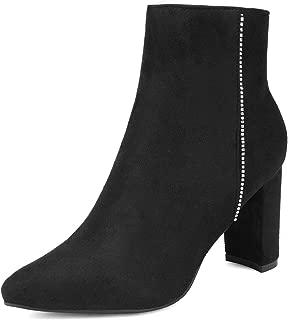 Women's Chunky High Heel Ankle Booties