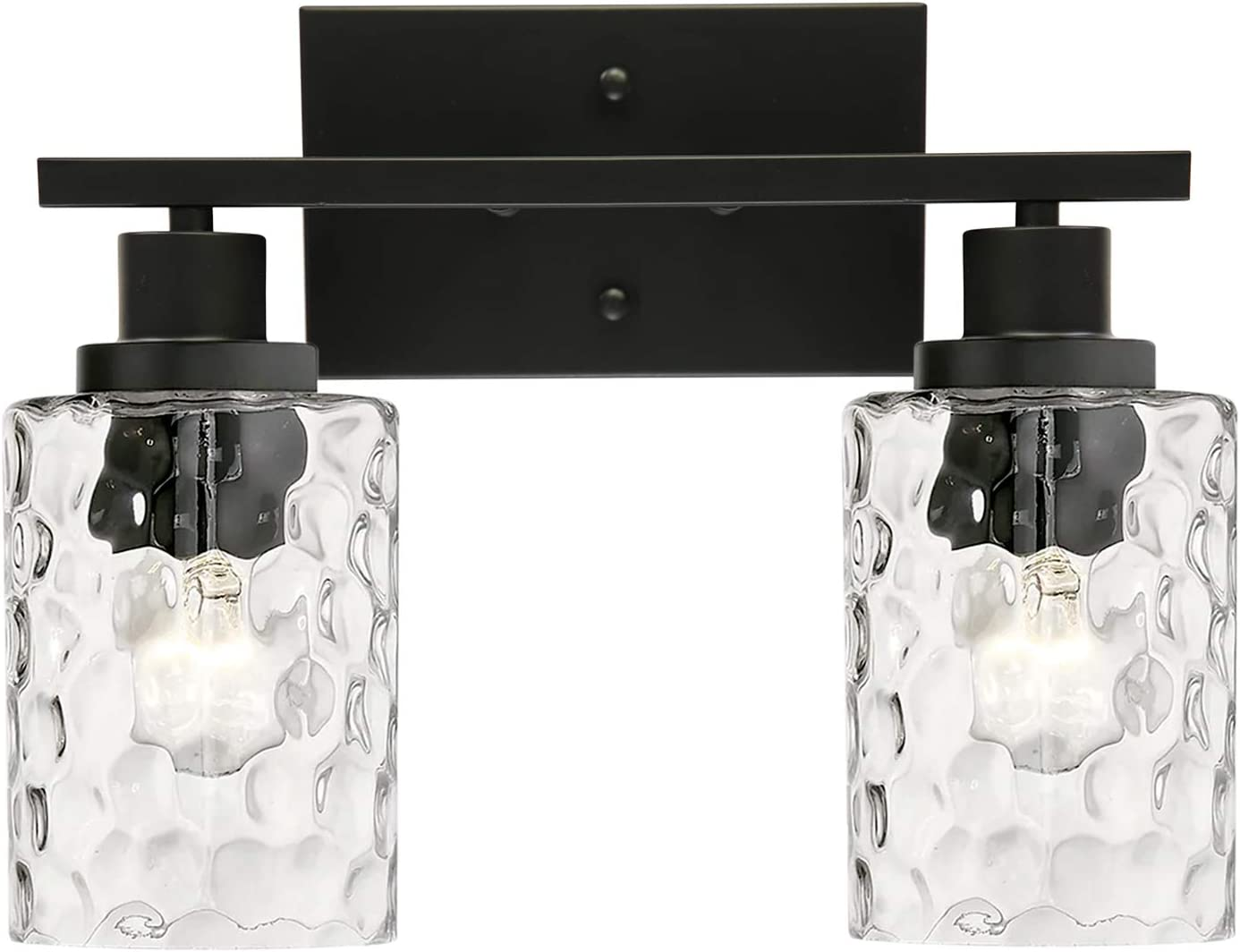 MELUCEE Indoor Wall Sconce Brand Cheap Sale Venue favorite Lighting Matte 2-Light with Cle Black