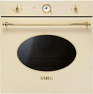 SMEG Electric Oven, Stainless Steel,Analogic Clock Knobs Control, Minute Minder, 2700 Watts, SF800P - 1 Year Warranty