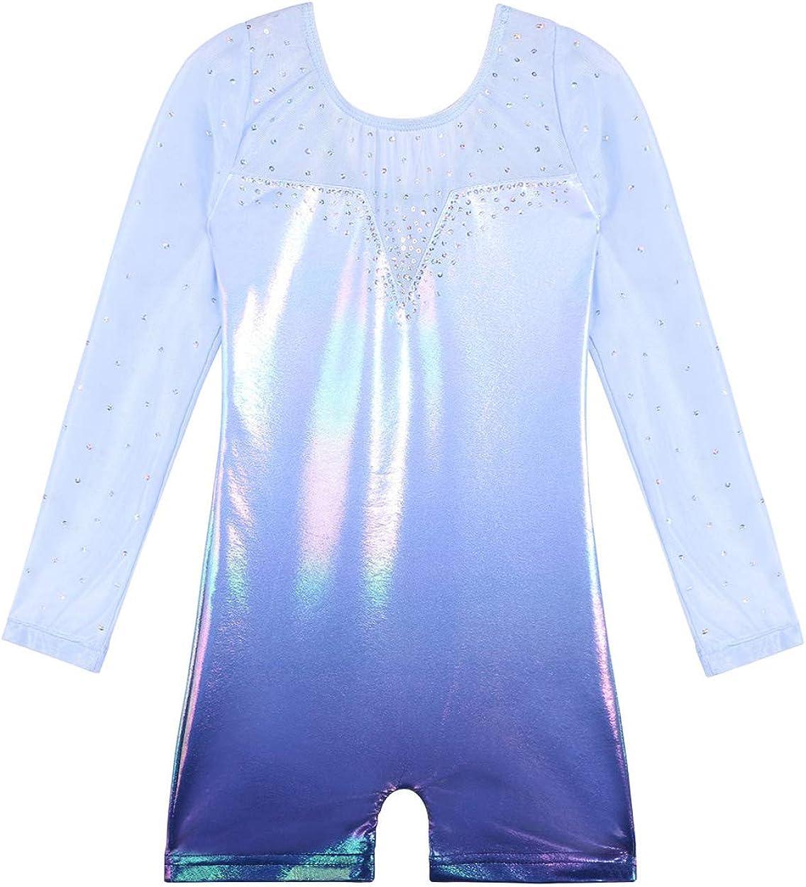 Selling rankings BAOHULU Leotard for Girls Gymnastics Popular product Stripes Toddler Sparkle Tan