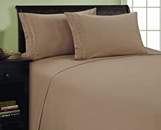Elegant Comfort 1500 Thread Count Embroidered Egyptian Quality Luxurious Silky Soft HypoAllergenic WRINKLE & FADE RESISTAN...