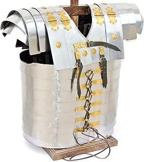 Medieval Gears Brand Lorica Segmentata Roman Legionare Armor w/ 20G Steel Leather Strap for LARP SCA
