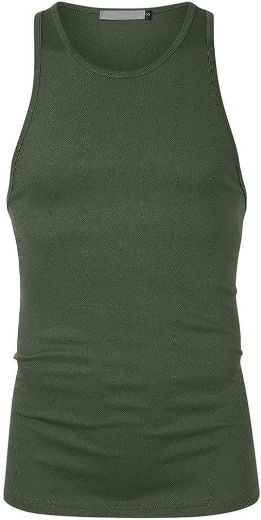 Gergeos Men Fitness Muscle Training Bodybuilding Tank Top Letter Print Sleeveless T-Shirts Vest