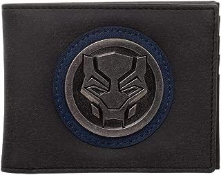 Black Panther Face Distressed PU Bifold Wallet