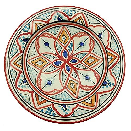 Plato de cerámica terracota pared capacidad étnico marroquí Tunisino 2204211006