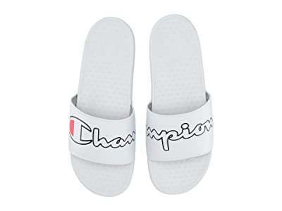 Champion Super Slide Split Script (White/Black) Men
