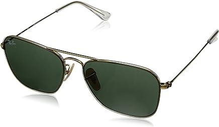 Ray Ban Unisex-Yetişkin Güneş Gözlükleri 0RB 3603 001/71 56, GOLD\GREEN,
