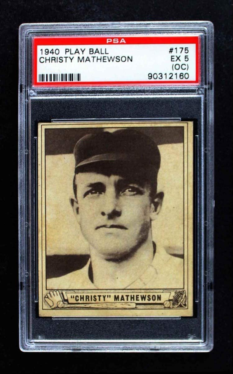Ranking TOP17 1940 Translated Play Ball # 175 Christy Mathewson Baseball Giants York New