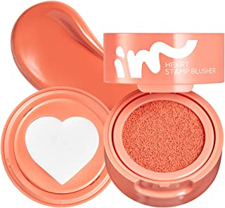 I'M MEME I'M Heart Stamp Blusher | Blendable Cushion Blush with a Matte Finish | 002 Crush on Coral | Fun Stuff for Teen G...