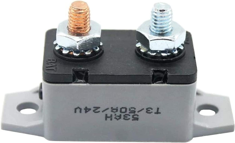 30A 12V-24V Auto Car RV Maine Circuit Breaker Manual Reset Fuse Holder