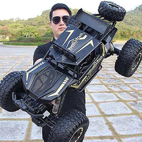 GRTVF Vehículo RC todoterreno de escalada todoterreno, coche de control remoto de aleación grande a escala 1 8, coche RC 4WD Bigfoot Monster Drift, amortiguador independiente 4x4, regalos para niños y