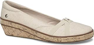 حذاء نسائي من الكتان اللامع وتدي Gigi من Grasshopps، فضي طبيعي، 7. 5