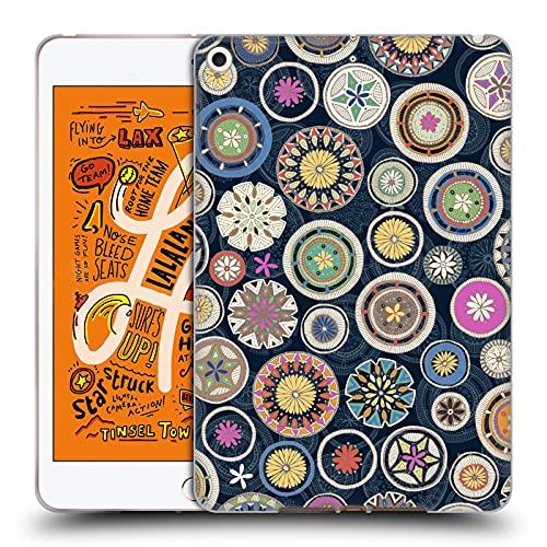 Head Case Designs Licenciado Oficialmente Sharon Turner Mandala 2 Florales Carcasa de Gel de Silicona Compatible con Apple iPad Mini (2019)